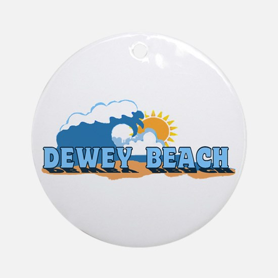 Dewey Beach DE - Waves Design Ornament (Round)