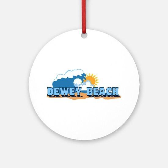 Dewey Beach DE - Waves Design Ornament (Round)