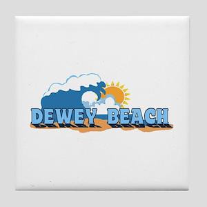 Dewey Beach DE - Waves Design Tile Coaster