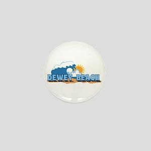 Dewey Beach DE - Waves Design Mini Button