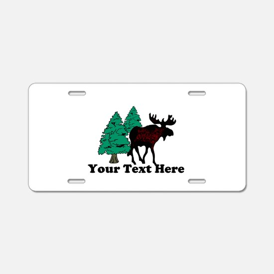 Personalized Moose Aluminum License Plate