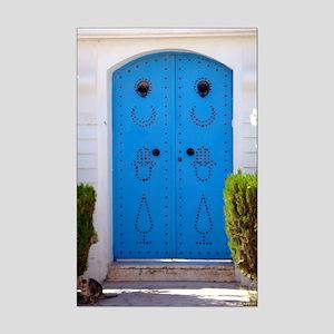 Tunisian Door Cat Mini Poster Print
