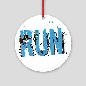 Grunge RUN Ornament (Round)