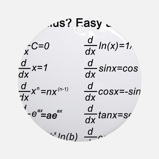 Math Ornament (Round)