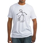 Angry Stickman Fitted T-Shirt