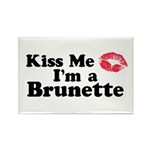 Kiss me I'm a brunette Rectangle Magnet