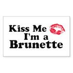 Kiss me I'm a brunette Rectangle Sticker