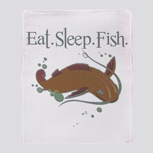 Eat.Sleep.Fish. Throw Blanket
