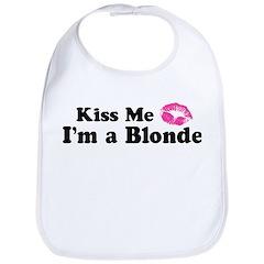 Kiss Me I'm a Blonde Bib