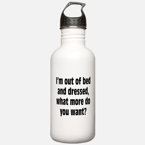 Out of Bed and Dressed Water Bottle