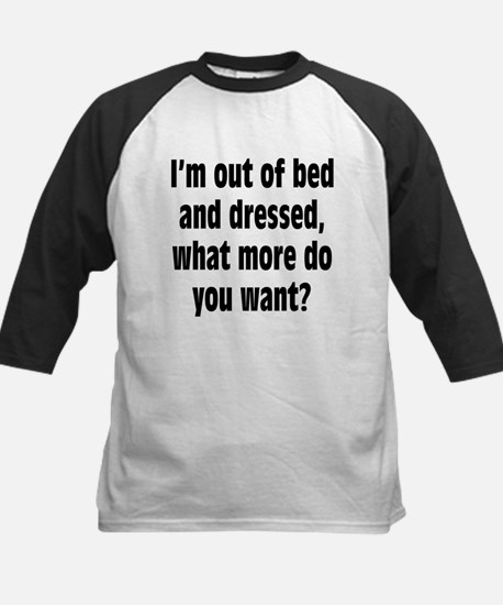 Out of Bed and Dressed Kids Baseball Jersey