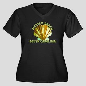 Myrtle Beac Women's Plus Size V-Neck Dark T-Shirt