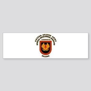 SOF - USASOC Flash with Text Sticker (Bumper)