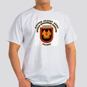 SOF - USASOC Flash with Text Light T-Shirt