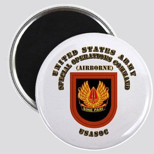 SOF - USASOC Flash with Text Magnet