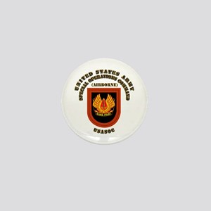 SOF - USASOC Flash with Text Mini Button