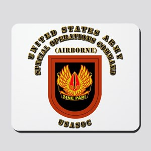 SOF - USASOC Flash with Text Mousepad