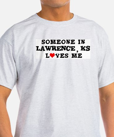 Someone in Lawrence Ash Grey T-Shirt
