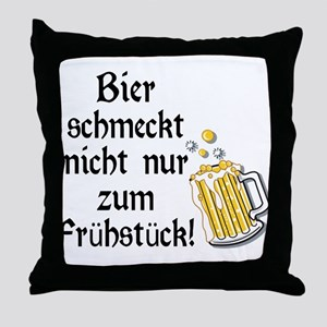 German Beer Is Just Not For Breakfast Throw Pillow