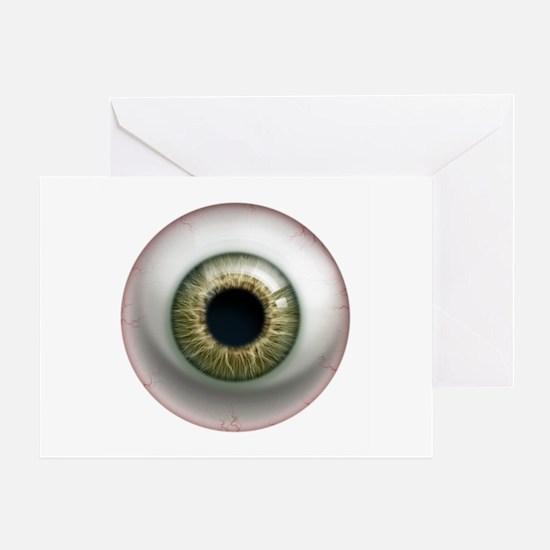 The Eye: Hazel Greeting Card