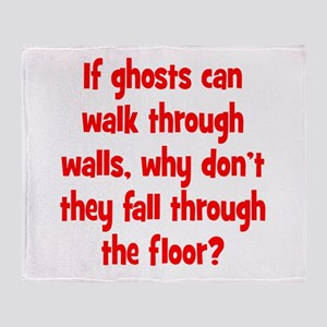 Ghosts and Floors Throw Blanket