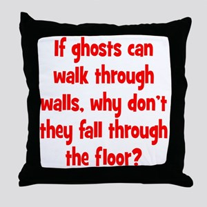 Ghosts and Floors Throw Pillow