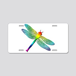 Rainbow Dragonfly Aluminum License Plate