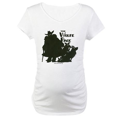 Nero Wolfe Maternity T-Shirt