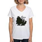Nero Wolfe Women's V-Neck T-Shirt
