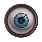 The Eye: Blue Large Wall Clock