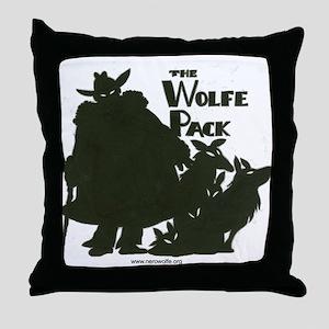Nero Wolfe Throw Pillow