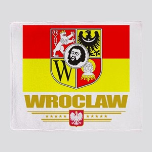 Wroclaw Flag Throw Blanket