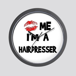 Kiss Me I'm A Hairdresser Wall Clock