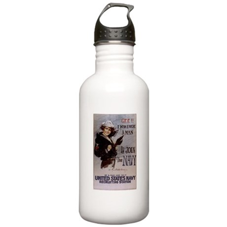 Gee, I Wish I Were a Man Stainless Water Bottle 1.
