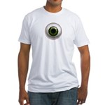 The Eye: Green, Dark Fitted T-Shirt