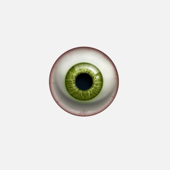 The Eye: Green Mini Button (10 pack)