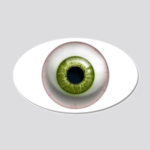The Eye: Green 22x14 Oval Wall Peel
