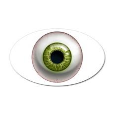 The Eye: Green 22x14 Oval Wall Peel