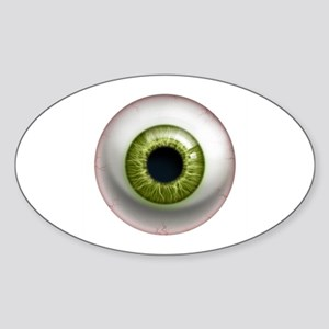 The Eye: Green Sticker (Oval)