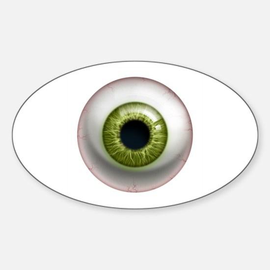 The Eye: Green Sticker (Oval)