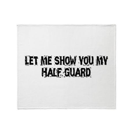 Half Guard Throw Blanket