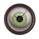 The Eye: Green, Light Large Wall Clock