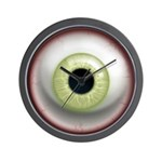 The Eye: Green, Light Wall Clock