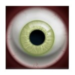 The Eye: Green, Light Tile Coaster