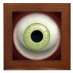 The Eye: Green, Light Framed Tile