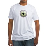 The Eye: Green, Light Fitted T-Shirt