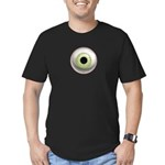 The Eye: Green, Light Men's Fitted T-Shirt (dark)