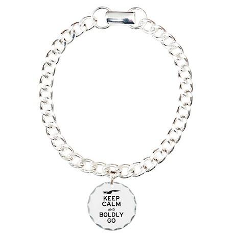Keep Calm and Boldly Go Charm Bracelet, One Charm