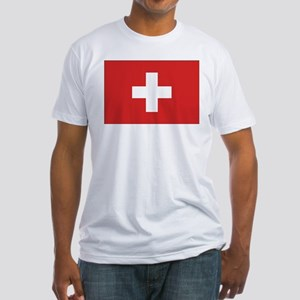 Switzerland Civil Ensign Fitted T-Shirt