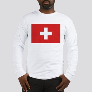 Switzerland Civil Ensign Long Sleeve T-Shirt